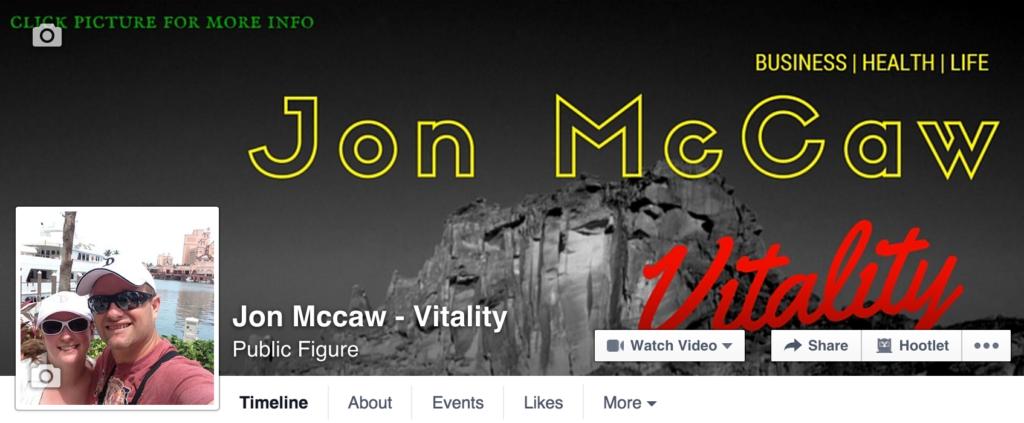 Facebook Fan Page McCaw Vitality