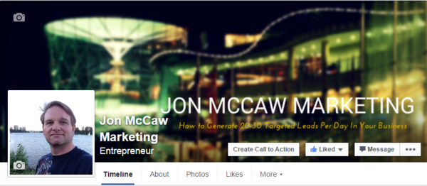 Home Business Facebook Fan Page-jon-mccaw-marketing