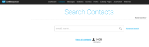 Search contacts Email List Cleaning With GetResponse