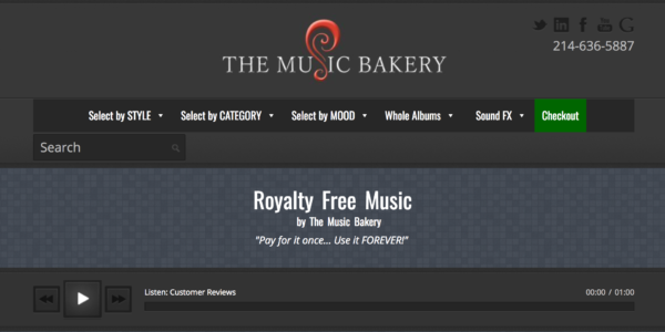 royalty free music for youtube videos - the music bakery