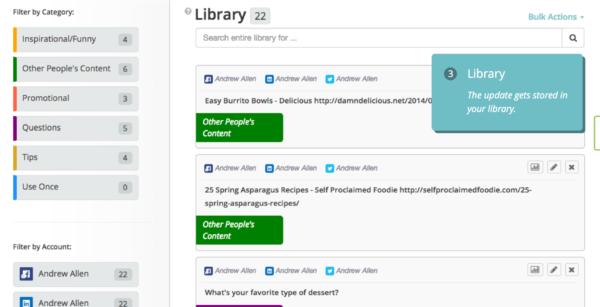 SocialOomph vs Edgar Library