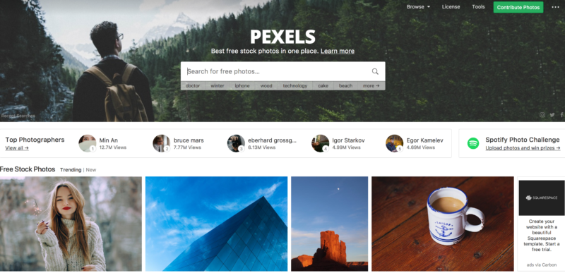 Free image website resources pexels