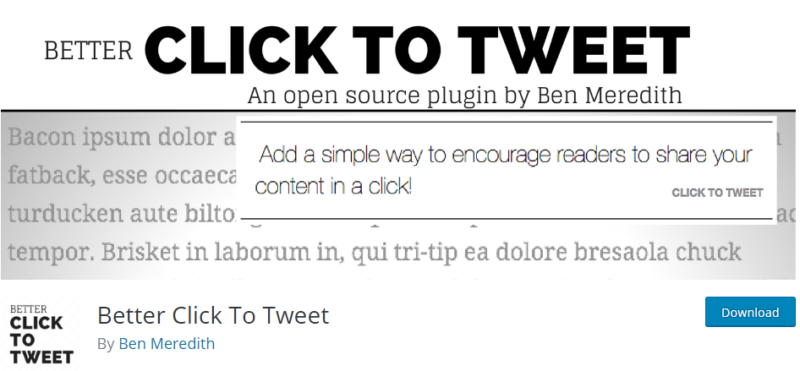 Plugins for WordPress - better click to tweet