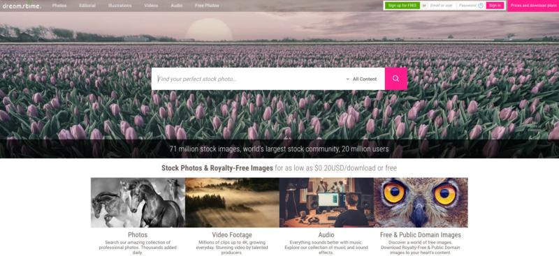 free image website resources - dreamstime