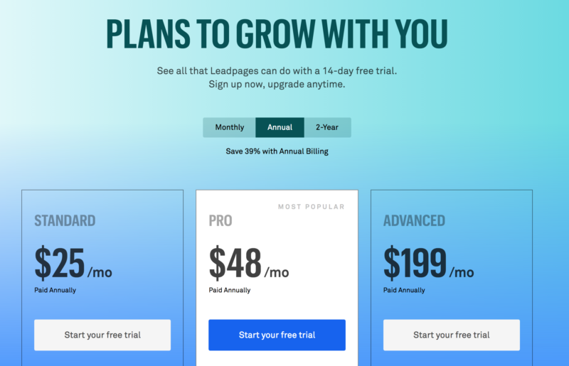 Leadpages Plans